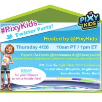 Join us at #PixyKids Twitter Party Thursday 4/26 to talk kids, tech and social media